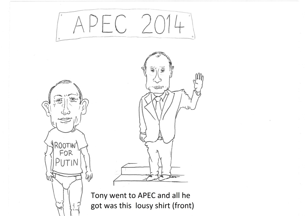 Now that's a T.Shirtfront By Cartoonist Declan Welsh