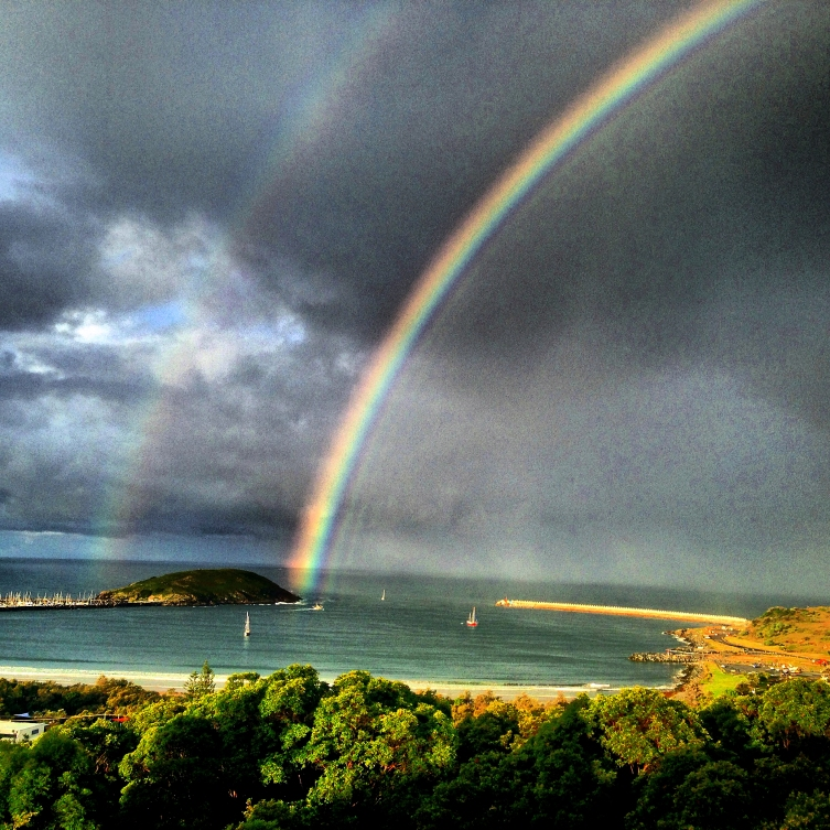 rainbow from lookout ######